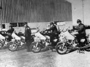 Lee Freeman, Bobby J Moore, Jim Hallman, J.D. Wingrove, & Marshall Finley on Motorcycles